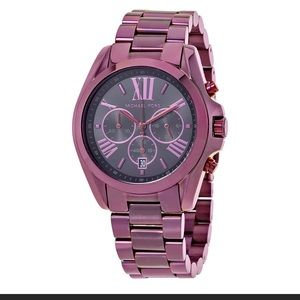 Micheal Kors Bradshaw Plum Watch